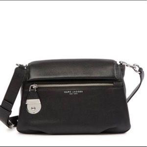 Marc Jacobs Colorblock Black Leather Shoulder Bag